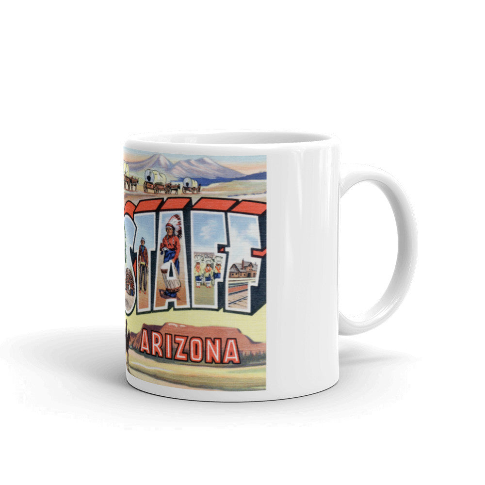 Greetings from Flagstaff Arizona Unique Coffee Mug, Coffee Cup