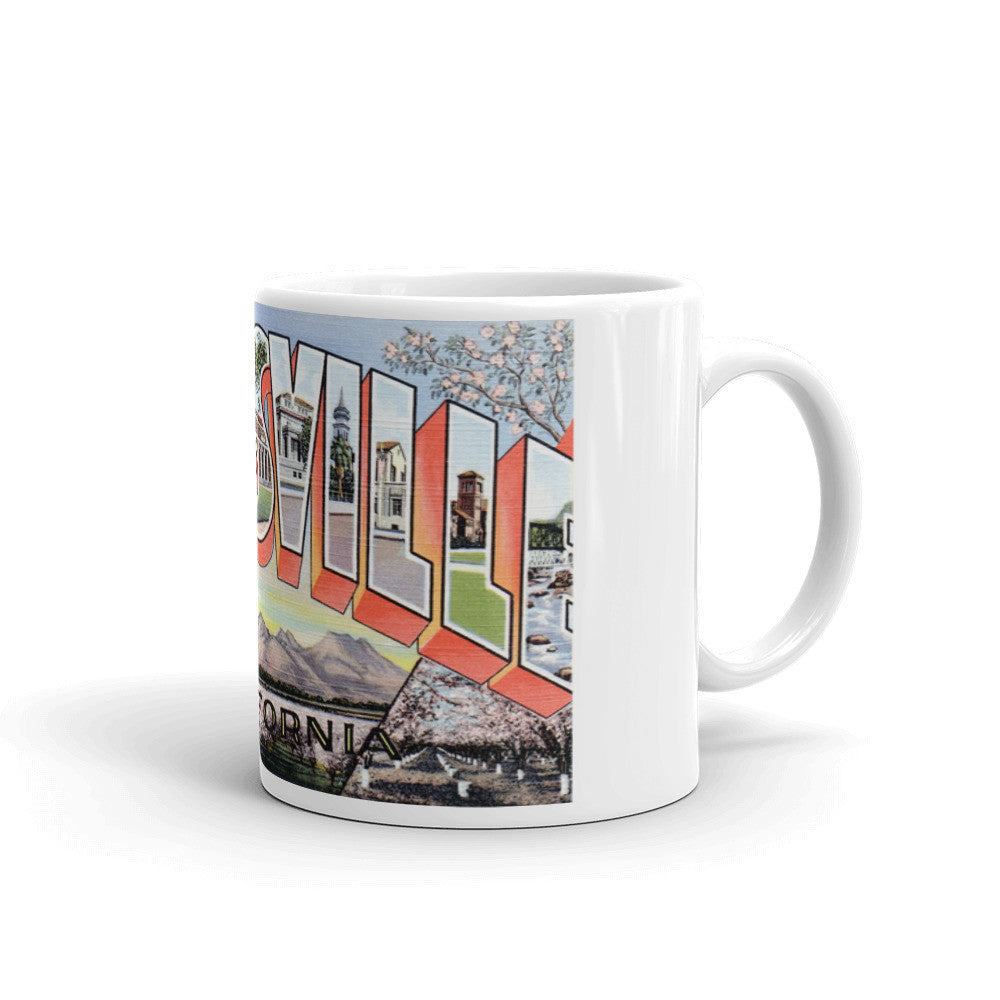 Greetings from Marysville California Unique Coffee Mug, Coffee Cup