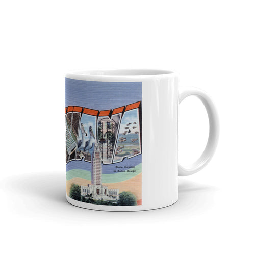 Greetings from Louisiana Unique Coffee Mug, Coffee Cup 1