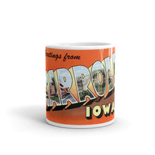 Greetings from Carroll Iowa Unique Coffee Mug, Coffee Cup