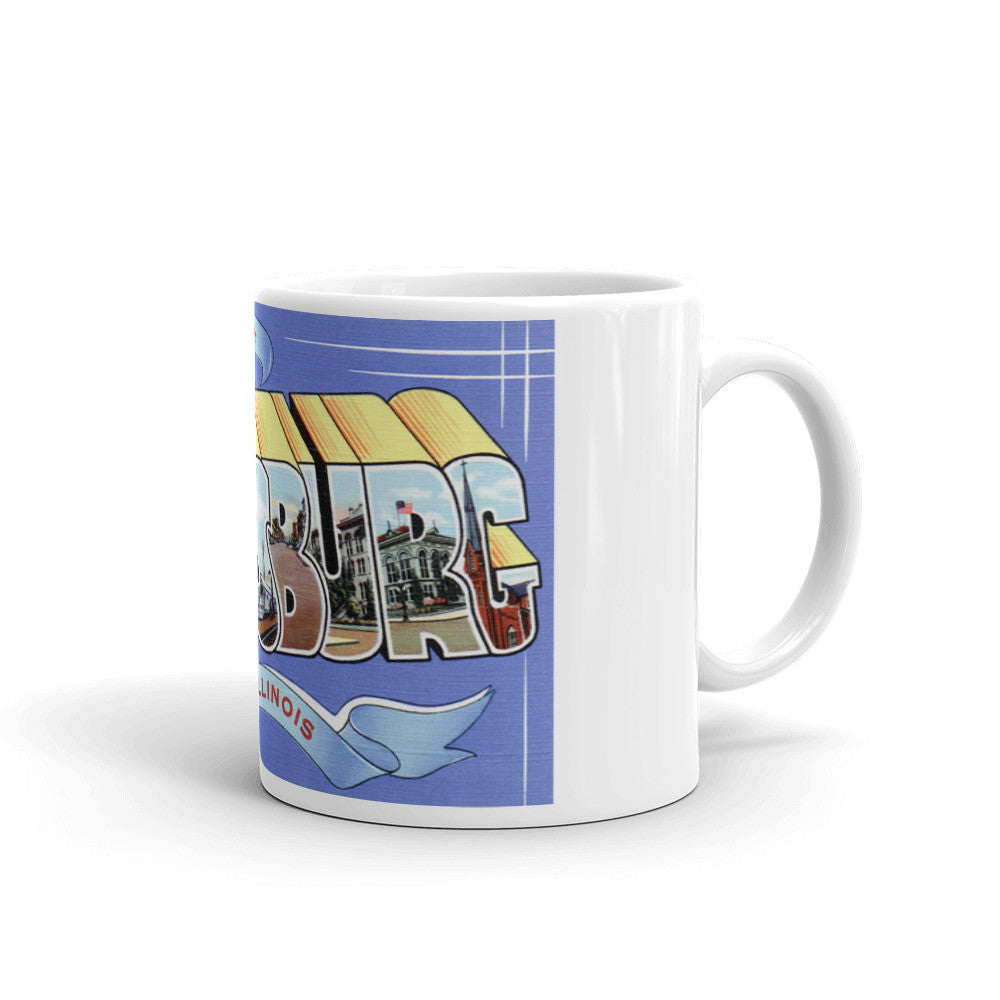 Greetings from Galesburg Illinois Unique Coffee Mug, Coffee Cup