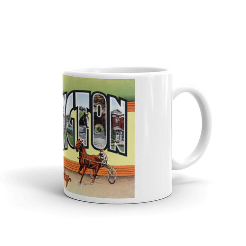Greetings from Lexington Kentucky Unique Coffee Mug, Coffee Cup