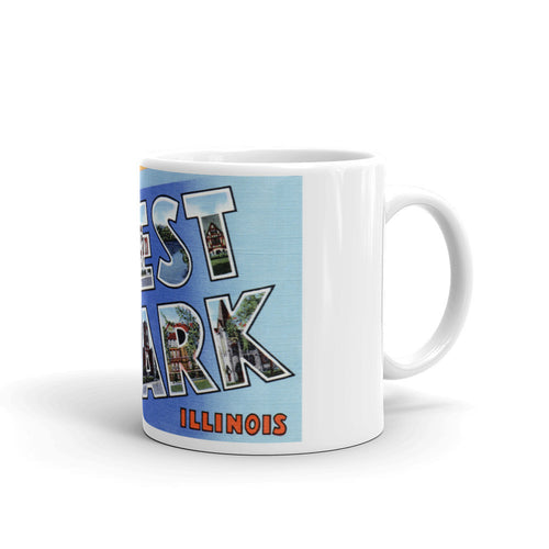 Greetings from Forest Park Illinois Unique Coffee Mug, Coffee Cup