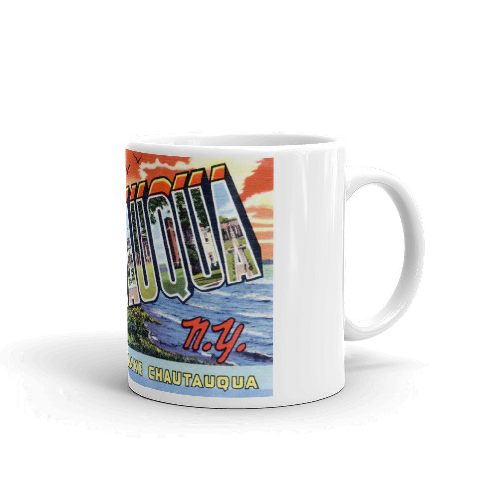 Greetings from Chautauqua New York Unique Coffee Mug, Coffee Cup
