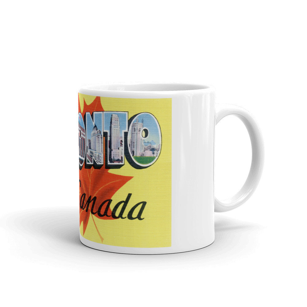 Greetings from Toronto Canada Unique Coffee Mug, Coffee Cup 1