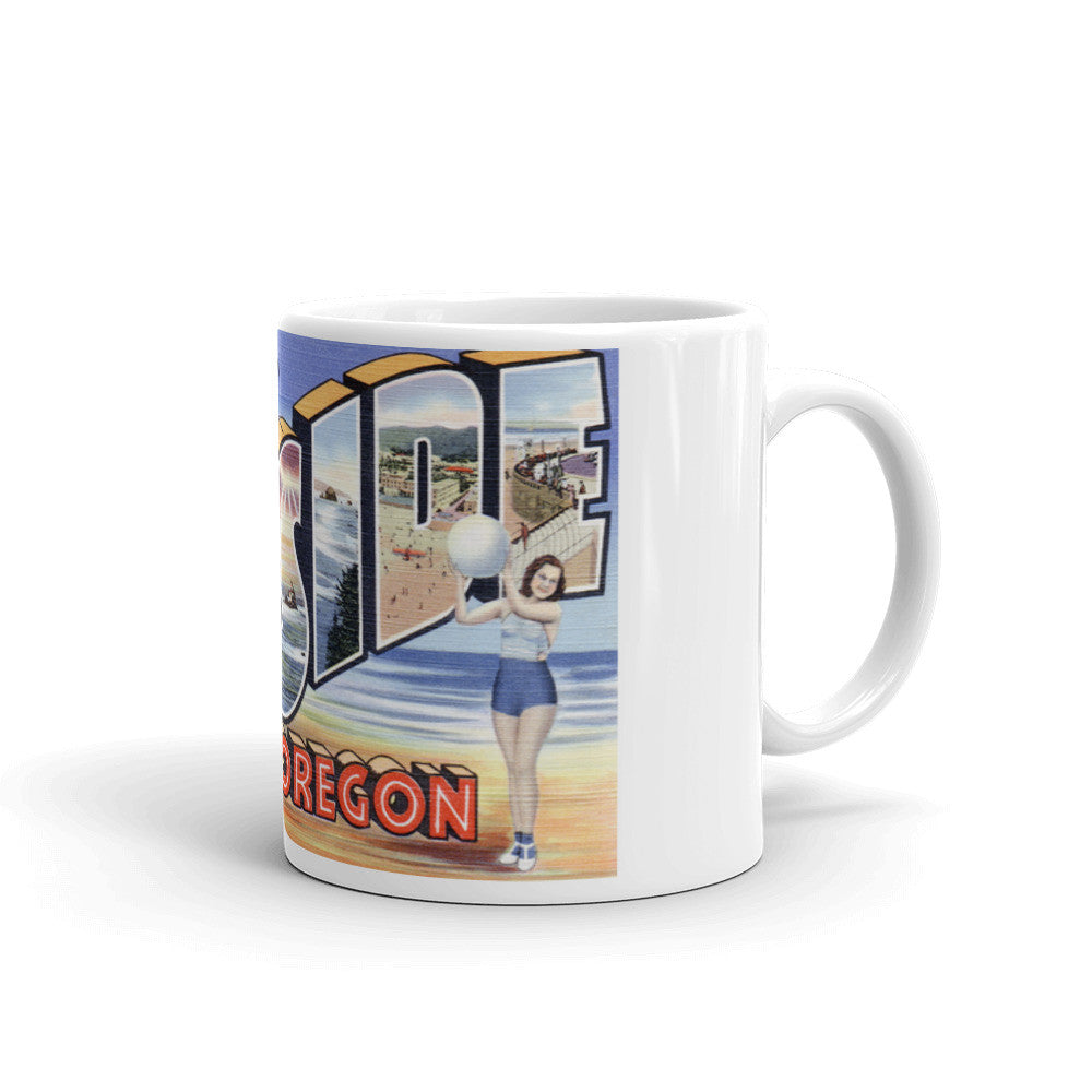 Greetings from Seaside Oregon Unique Coffee Mug, Coffee Cup