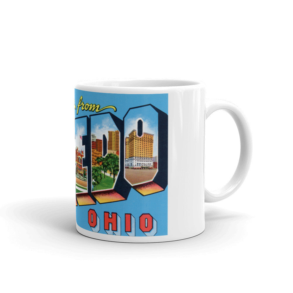 Greetings from Toledo Ohio Unique Coffee Mug, Coffee Cup 1