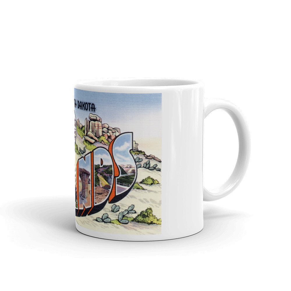 Greetings from Bad Lands North Dakota Unique Coffee Mug, Coffee Cup 1