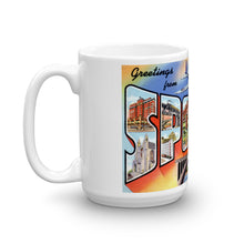 Greetings from Spokane Washington Unique Coffee Mug, Coffee Cup