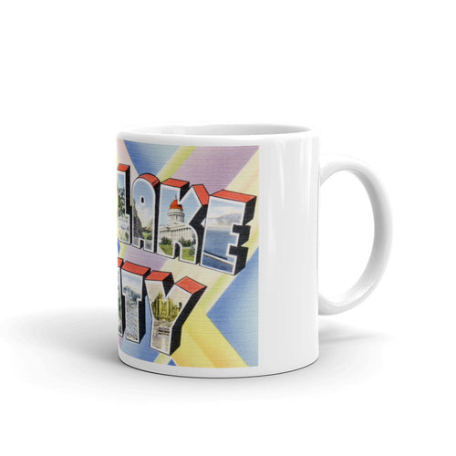 Greetings from Salt Lake City Utah Unique Coffee Mug, Coffee Cup 1