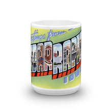 Greetings from Cedar Rapids Iowa Unique Coffee Mug, Coffee Cup