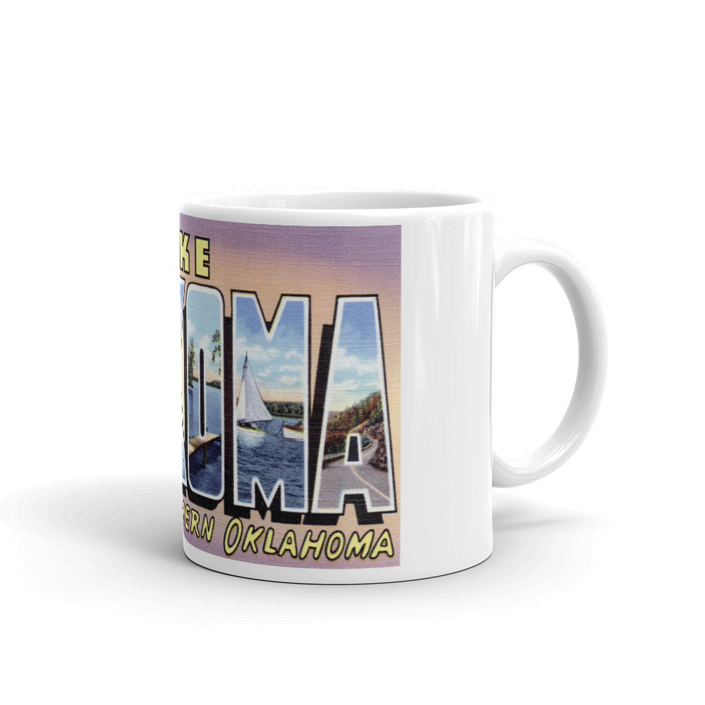 Greetings from Lake Texoma Oklahoma Unique Coffee Mug, Coffee Cup