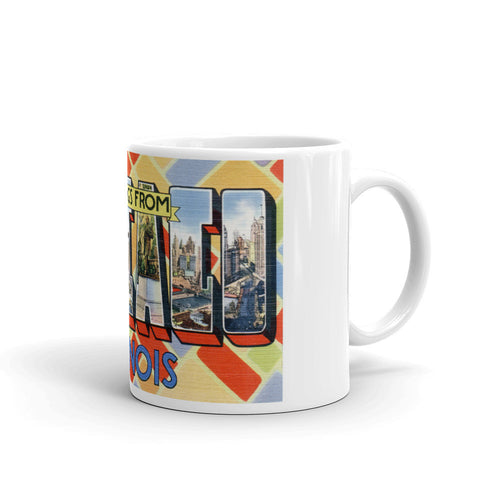 Greetings from Chicago Illinois Unique Coffee Mug, Coffee Cup 3