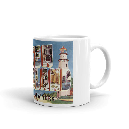 Greetings from Staten Island New York Unique Coffee Mug, Coffee Cup 1