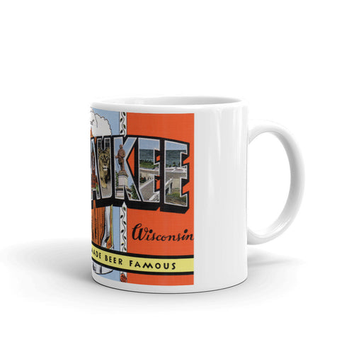 Greetings from Milwaukee Wisconsin Unique Coffee Mug, Coffee Cup 2