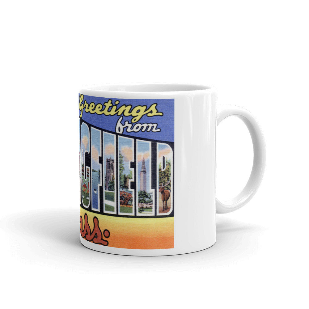 Greetings from Springfield Massachusetts Unique Coffee Mug, Coffee Cup