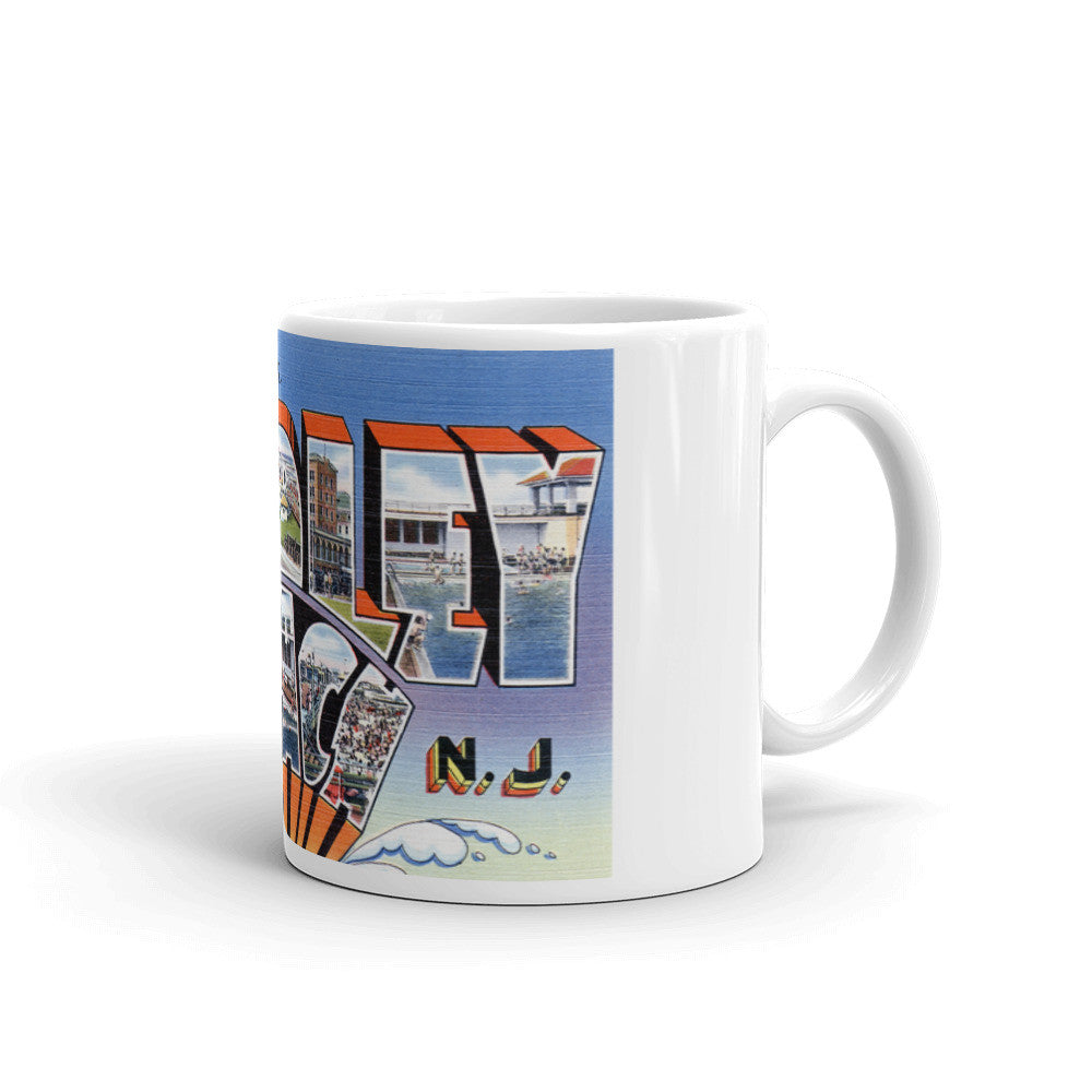 Greetings from Bradley Beach New Jersey Unique Coffee Mug, Coffee Cup