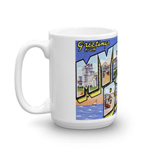 Greetings from Myrtle Beach South Carolina Unique Coffee Mug, Coffee Cup 1