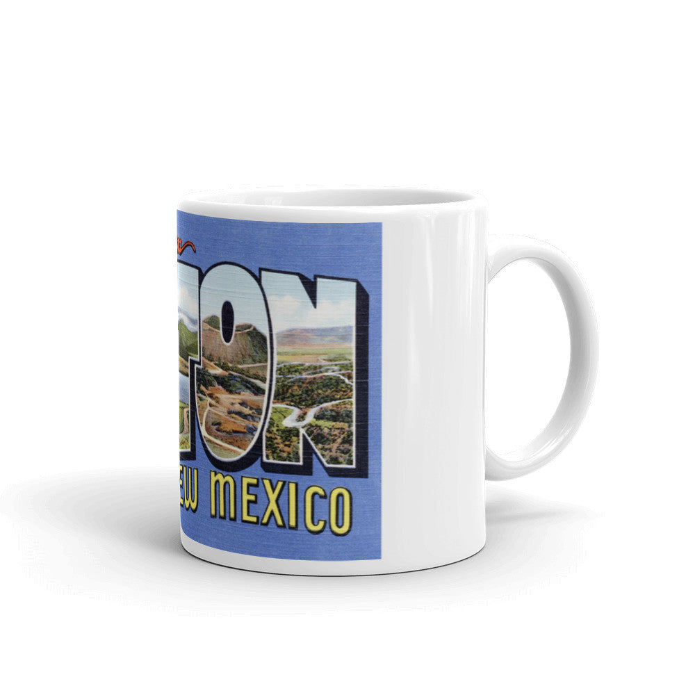 Greetings from Raton New Mexico Unique Coffee Mug, Coffee Cup