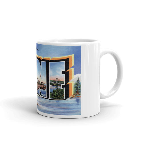 Greetings from Maine Unique Coffee Mug, Coffee Cup 2