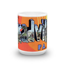 Greetings from Meadville Pennsylvania Unique Coffee Mug, Coffee Cup