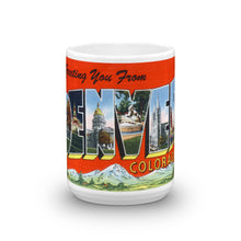 Greetings from Denver Colorado Unique Coffee Mug, Coffee Cup 2