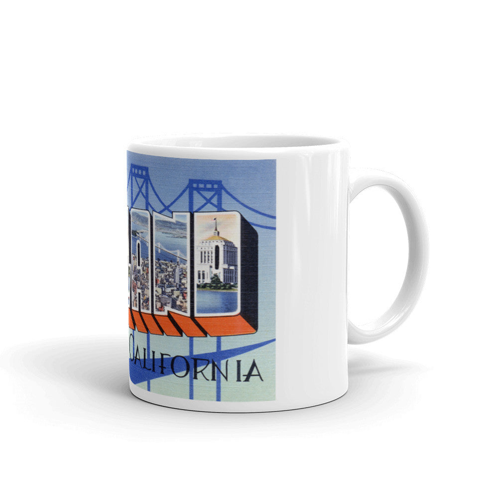 Greetings from Oakland California Unique Coffee Mug, Coffee Cup 1