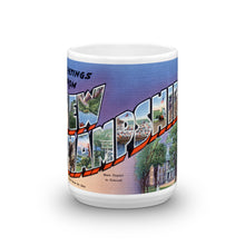 Greetings from New Hampshire Unique Coffee Mug, Coffee Cup 1