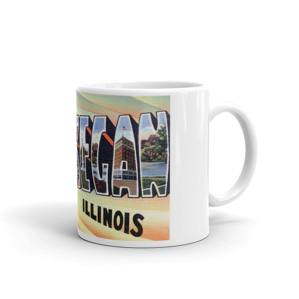 Greetings from Waukegan Illinois Unique Coffee Mug, Coffee Cup