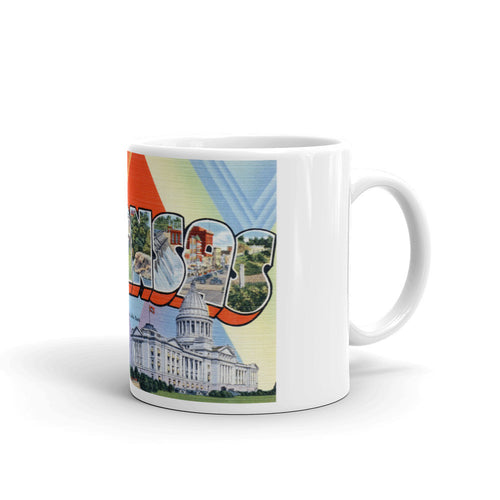 Greetings from Arkansas Unique Coffee Mug, Coffee Cup 1