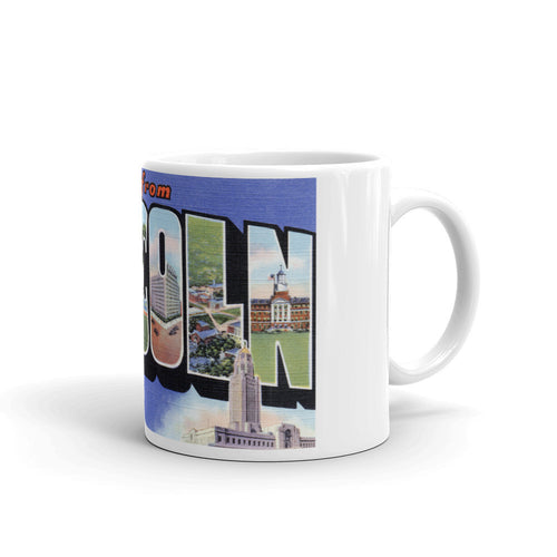 Greetings from Lincoln Nebraska Unique Coffee Mug, Coffee Cup