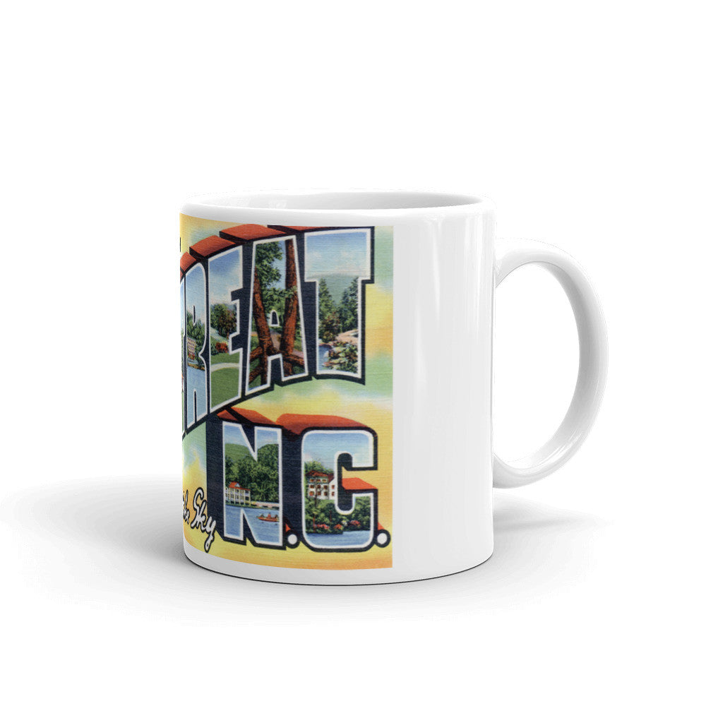 Greetings from Montreat North Carolina Unique Coffee Mug, Coffee Cup