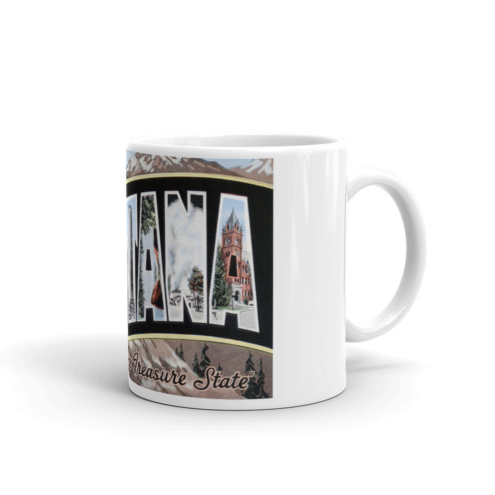 Greetings from Montana Unique Coffee Mug, Coffee Cup 2