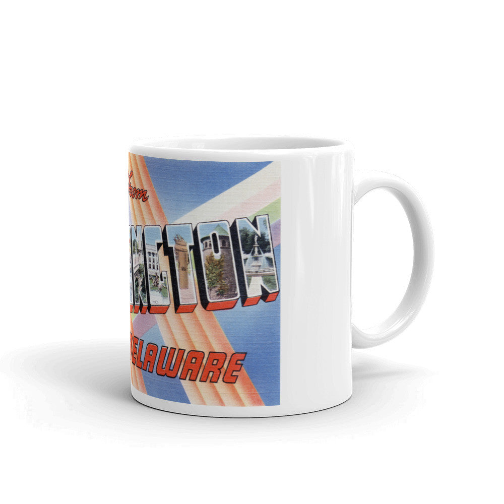 Greetings from Wilmington North Carolina Unique Coffee Mug, Coffee Cup 1