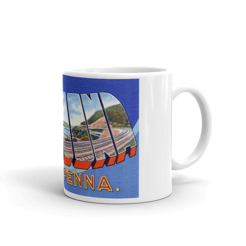 Greetings from Altoona Pennsylvania Unique Coffee Mug, Coffee Cup