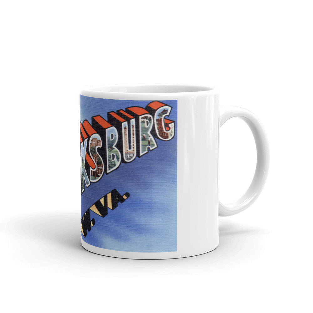 Greetings from Clarksburg West Virginia Unique Coffee Mug, Coffee Cup