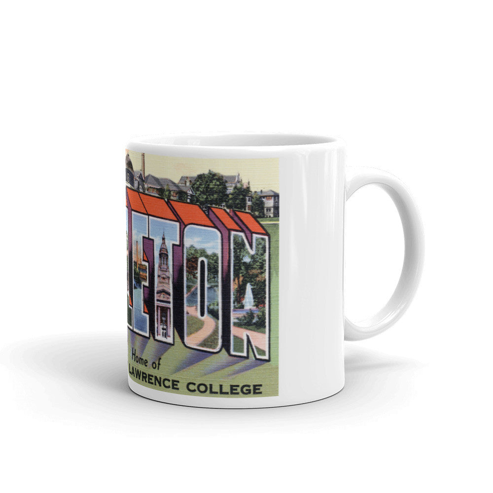 Greetings from Appleton Wisconsin Unique Coffee Mug, Coffee Cup
