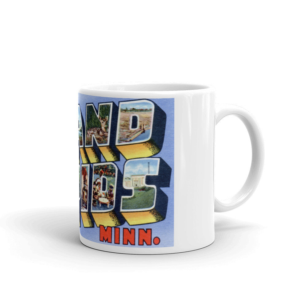 Greetings from Grand Rapids Minnesota Unique Coffee Mug, Coffee Cup