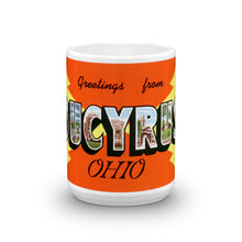 Greetings from Bucyrus Ohio Unique Coffee Mug, Coffee Cup