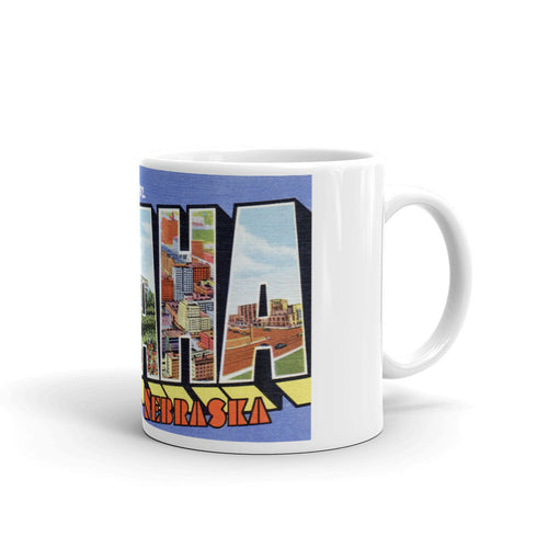 Greetings from Omaha Nebraska Unique Coffee Mug, Coffee Cup 1