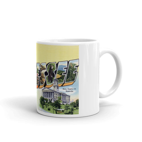 Greetings from Tennessee Unique Coffee Mug, Coffee Cup