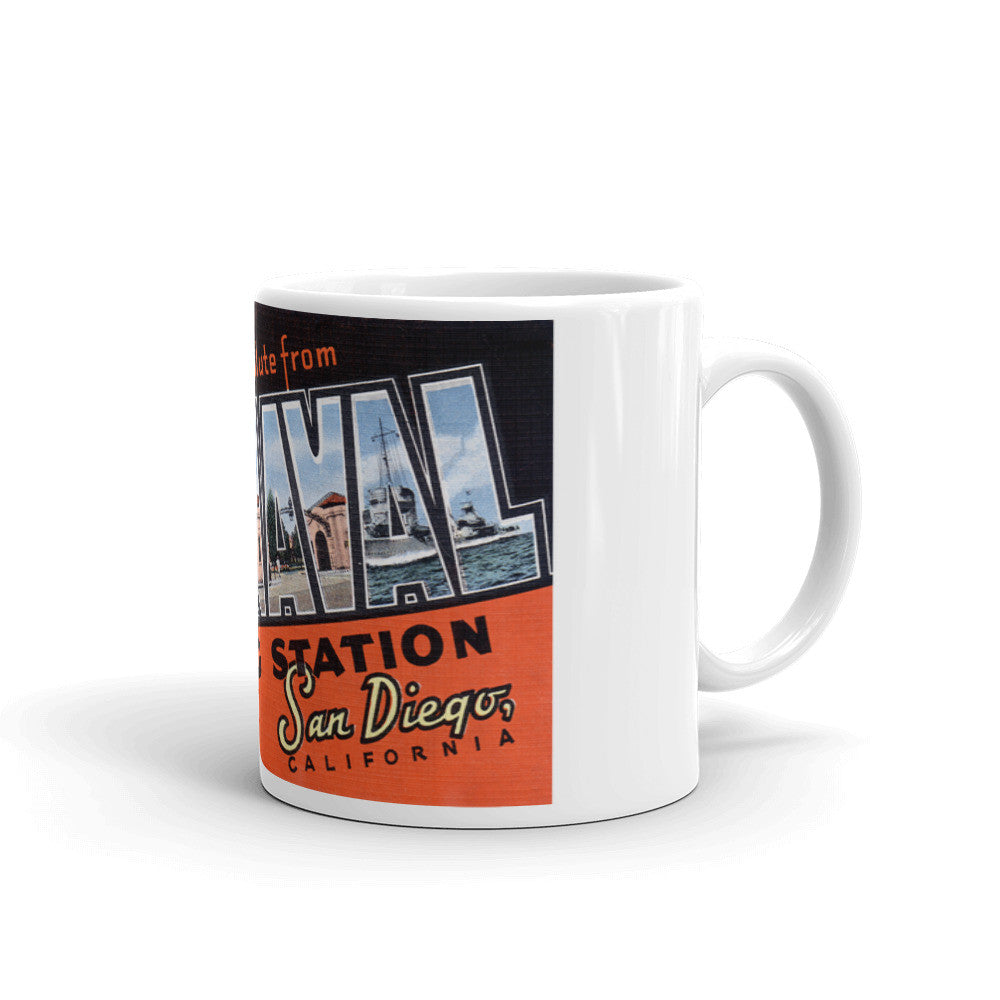 Greetings from US Naval Training Station California Unique Coffee Mug, Coffee Cup