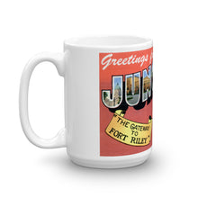 Greetings from Junction City Kansas Unique Coffee Mug, Coffee Cup