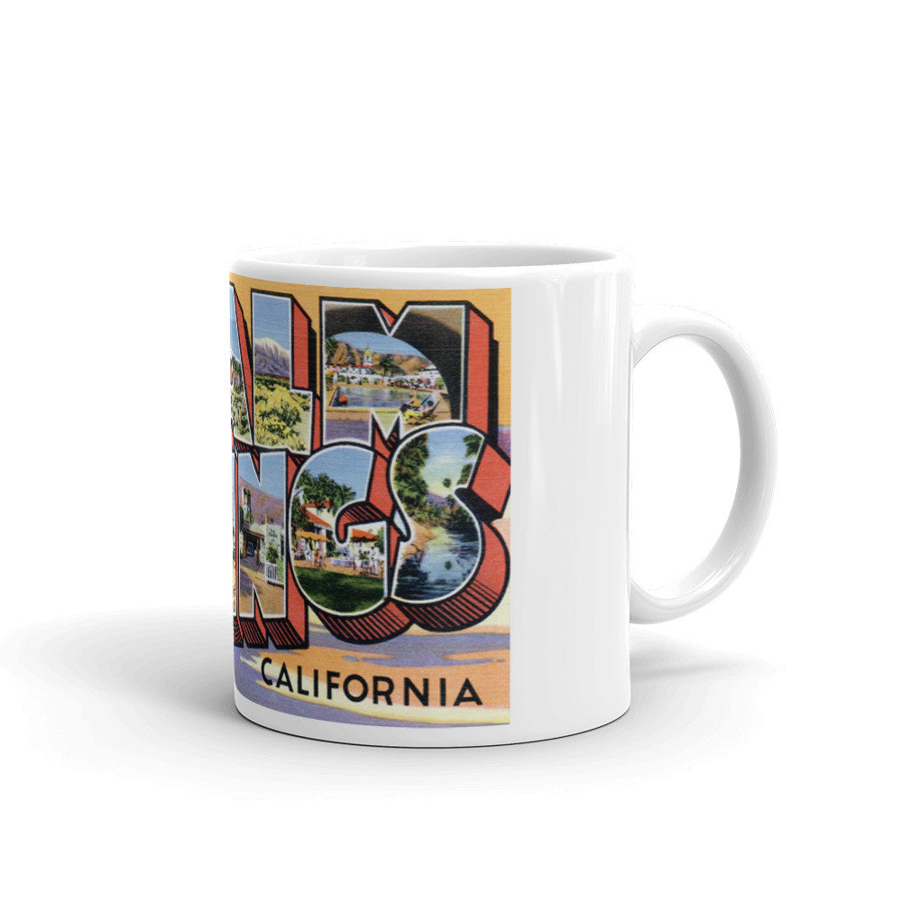 Greetings from Palm Springs California Unique Coffee Mug, Coffee Cup