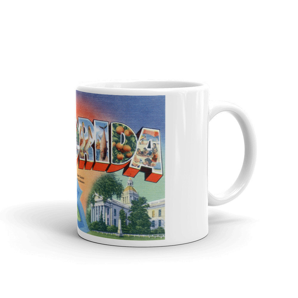 Greetings from Florida Unique Coffee Mug, Coffee Cup 1