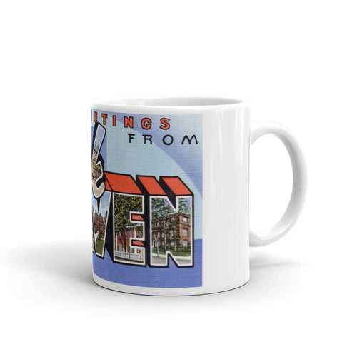 Greetings from Lock Haven Pennsylvania Unique Coffee Mug, Coffee Cup