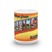 Greetings from Barrington Illinois Unique Coffee Mug, Coffee Cup