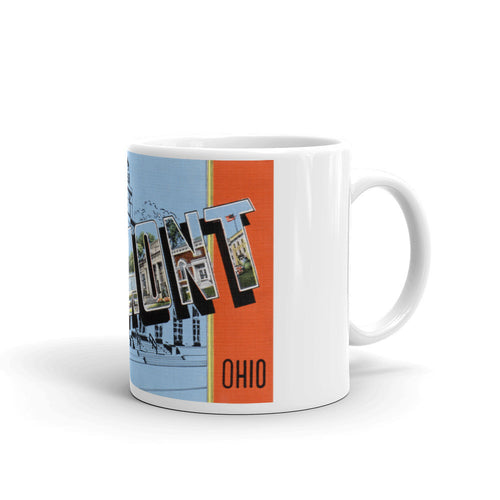 Greetings from Fremont Ohio Unique Coffee Mug, Coffee Cup