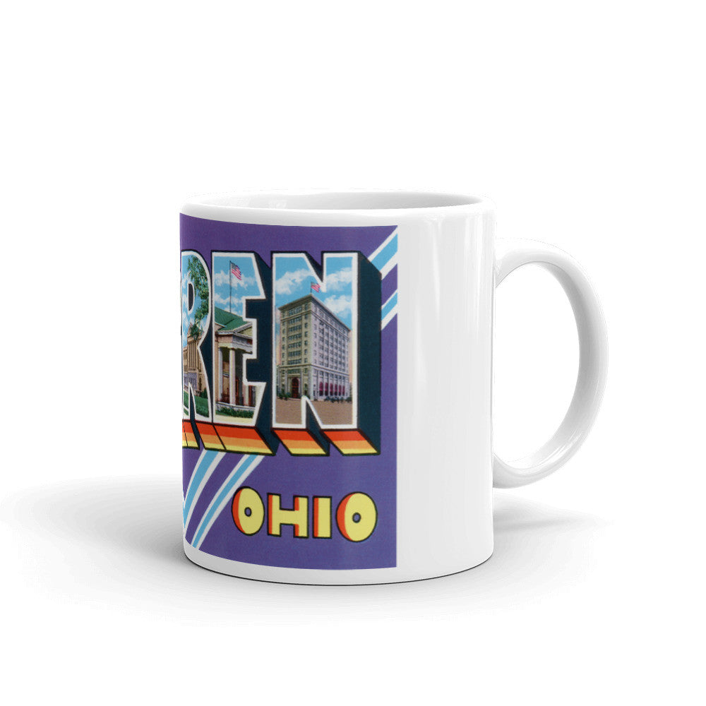 Greetings from Warren Ohio Unique Coffee Mug, Coffee Cup
