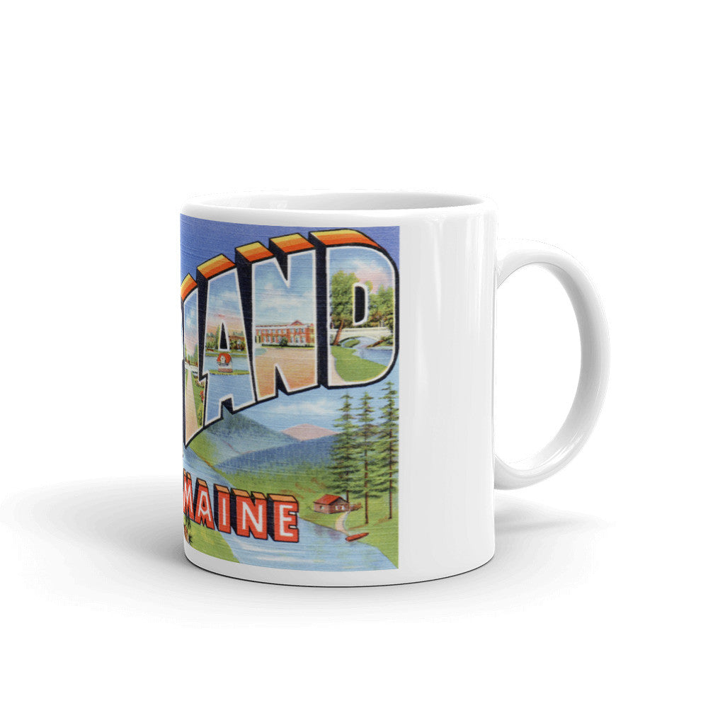 Greetings from Portland Maine Unique Coffee Mug, Coffee Cup 3